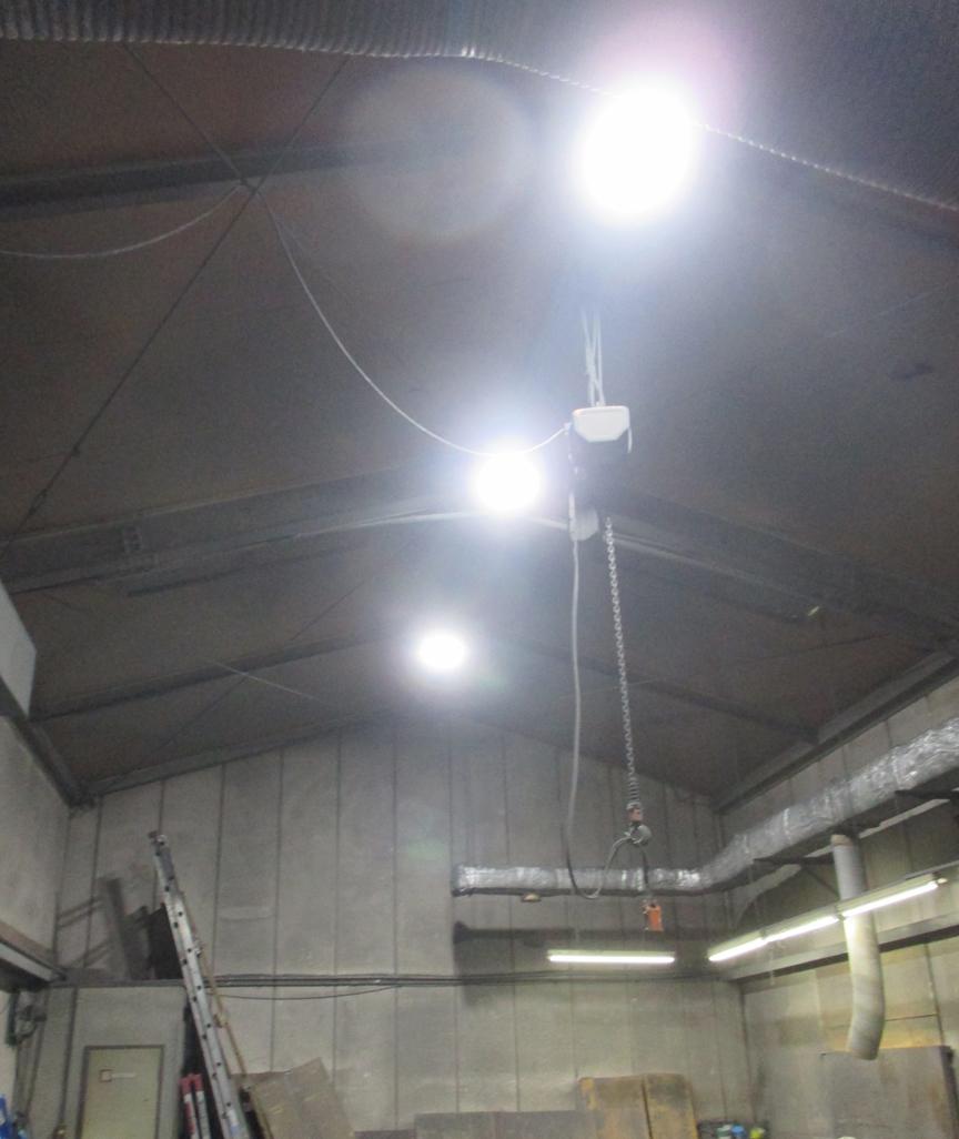 (有)中村健真工業所様 LED照明・高天井