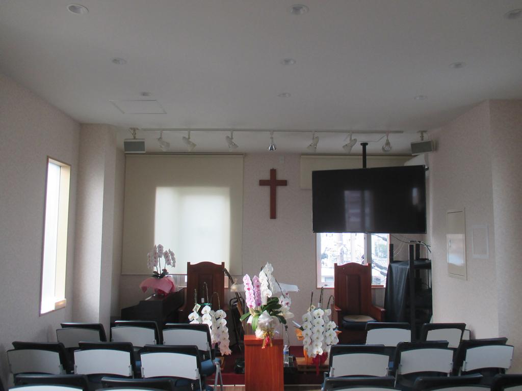 (宗)大阪純福音教会様 電気・音響・映像配線工事